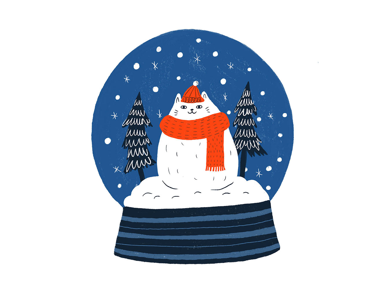 Holiday Card 2019 - Cat Snow Globe