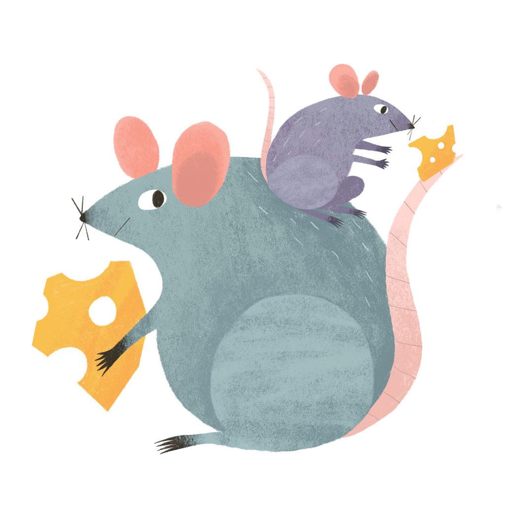 New Year Card 2020 - Rats